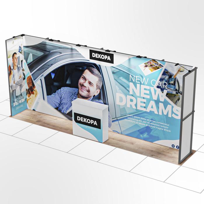 1x6 Modüler fuar standı - lightbox stand - ledbox stand - yurtdışı fuar standı - istanbul stand