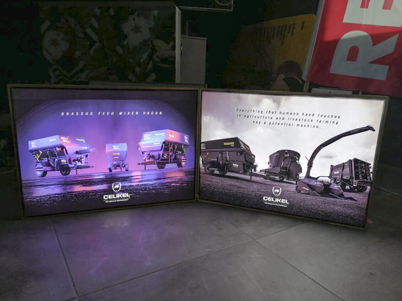 Ahşap Lightbox Ledbox Reklam Panosu