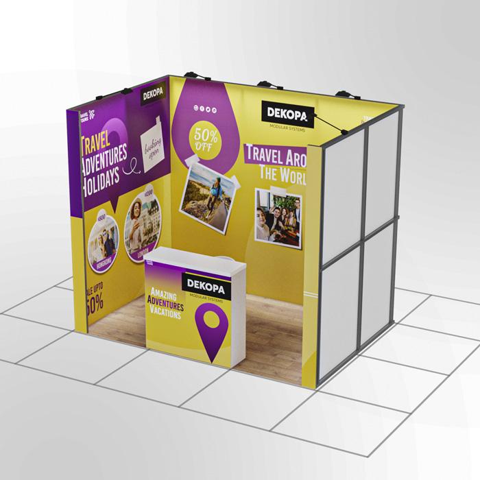 3x2-1 Modüler fuar standı - lightbox stand - ledbox stand - yurtdışı fuar standı - istanbul stand