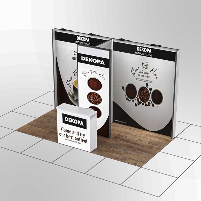 3x2 Modüler fuar standı - lightbox stand - ledbox stand - yurtdışı fuar standı - istanbul stand