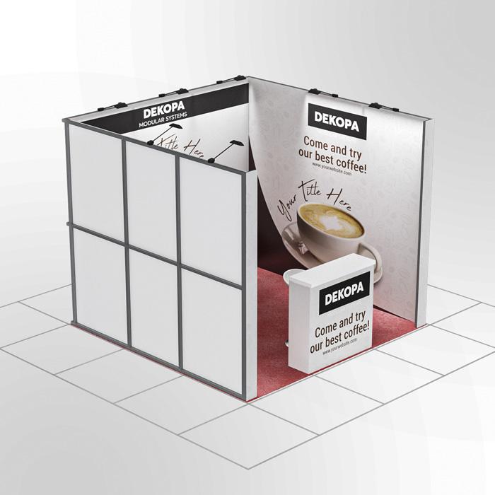3x3-3 Modüler fuar standı - lightbox stand - ledbox stand - yurtdışı fuar standı - istanbul stand