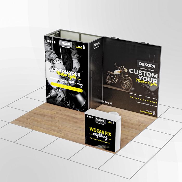 3x4-1 Modüler fuar standı - lightbox stand - ledbox stand - yurtdışı fuar standı - istanbul stand