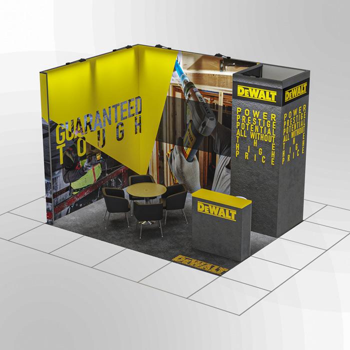 3x4 Modüler fuar standı - lightbox stand - ledbox stand - yurtdışı fuar standı - istanbul stand