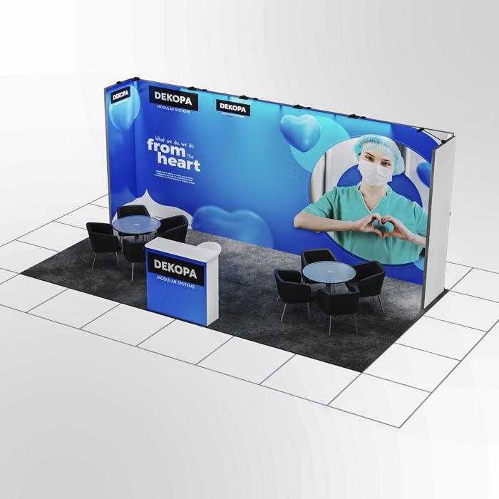 3x6 Modüler fuar standı - lightbox stand - ledbox stand - yurtdışı fuar standı - istanbul stand