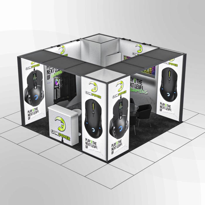 4x4 Modüler fuar standı - lightbox stand - ledbox stand - yurtdışı fuar standı - istanbul stand