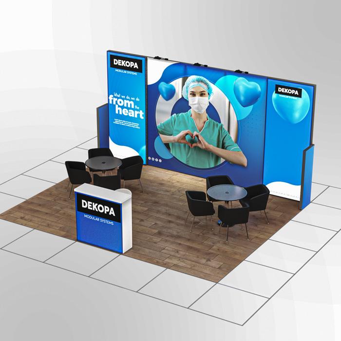 4x5-2 Modüler fuar standı - lightbox stand - ledbox stand - yurtdışı fuar standı - istanbul stand