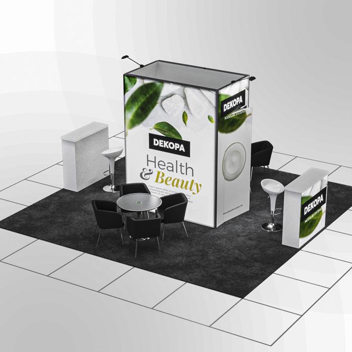 4x5 Modüler fuar standı - lightbox stand - ledbox stand - yurtdışı fuar standı - istanbul stand