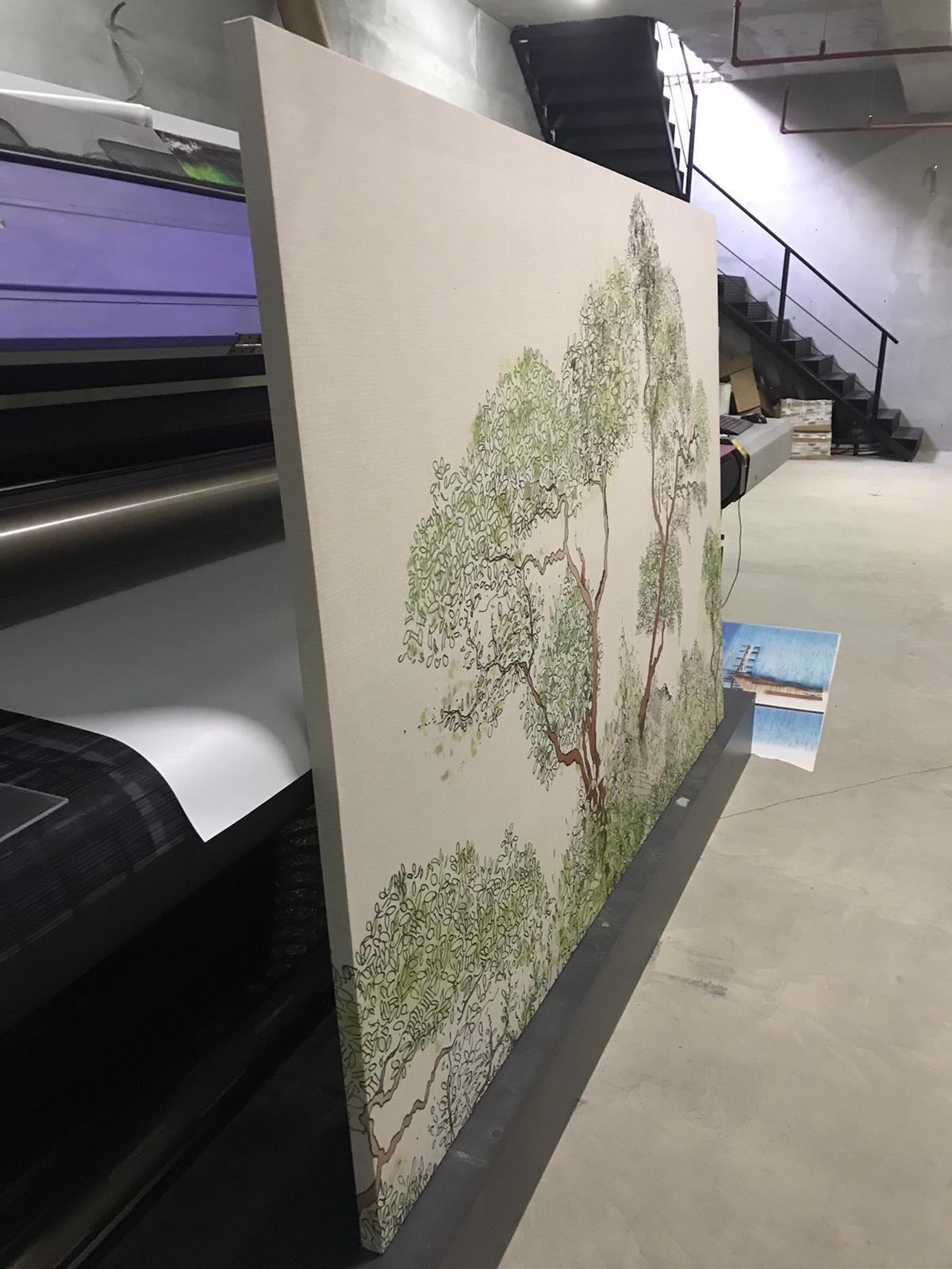 uv baskı kanvas tablo üretimi